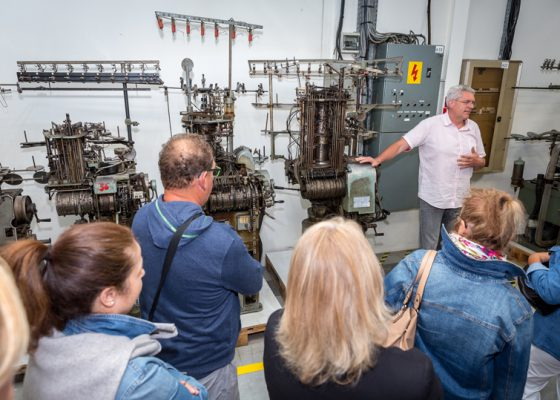 Visite industrielle de l'usine de chaussettes Kindy